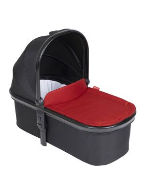 Phil&Teds Snug Carrycot V6 Black with Chilli Carrycot Lid