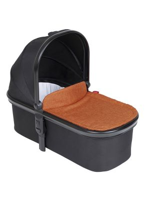 Phil&Teds Snug Carrycot V6 Black with Rust Carrycot Lid