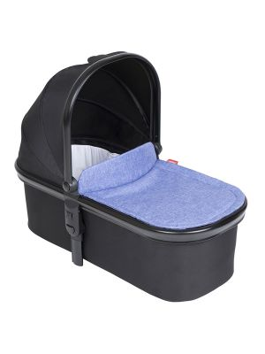 Phil&Teds Snug Carrycot V6 Black with Sky Carrycot Lid