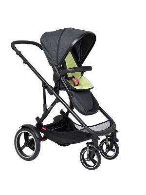Phil&Teds Voyager V6 Black with Apple Cushy Ride Liner