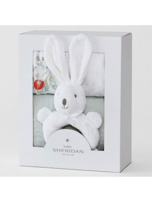 Sheridan Alodie Gift Set (2 Wrap & Teething Toy) Celadon