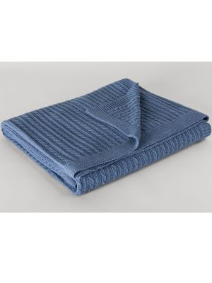 Sheridan Conneleigh Cot Blanket Sea Blue