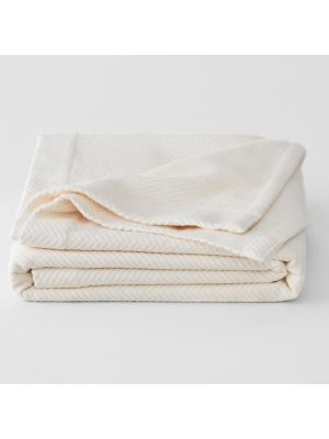 Sheridan Cotton Plush Cot Blanket Cream