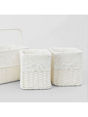 Sheridan Emerson 3 Piece Nursery Storage Baskets Grey