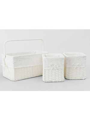 Sheridan Emersan 3 Piece Nursery Storage Baskets Grey