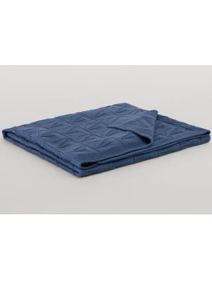 Sheridan Eveleigh Cot Blanket Sea Blue