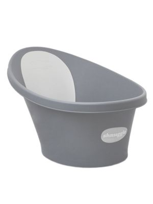Shnuggle Bath with Plug Dark Grey