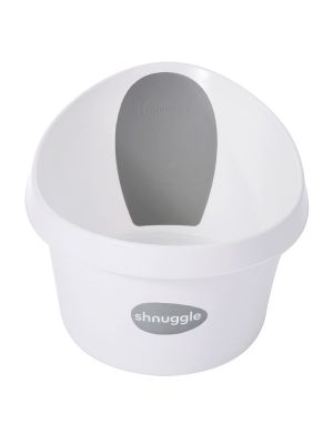 Shnuggle Toddler Bath White & Dark Grey