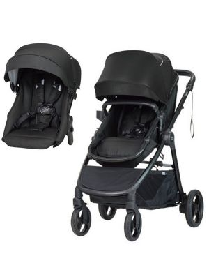 Steelcraft One 2 Travel System Stroller + Second Seat Carbon Black