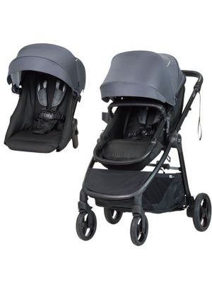 Steelcraft One 2 Travel System Stroller + Second Seat Steel Grey