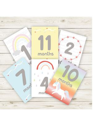 The Peanut Shell Rainbow Sprinkle Milestone Cards