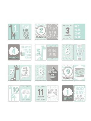 The Peanut Shell Uptown Giraffe Milestone Cards