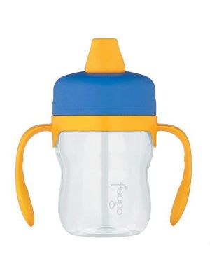 Thermos Foogo Plastic Sippy Cup With Handles BPA Free Soft Spout Tritan 235ml Blue