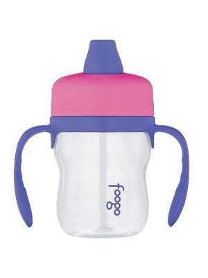 Thermos Foogo Plastic Sippy Cup With Handles BPA Free Soft Spout Tritan 235ml Pink