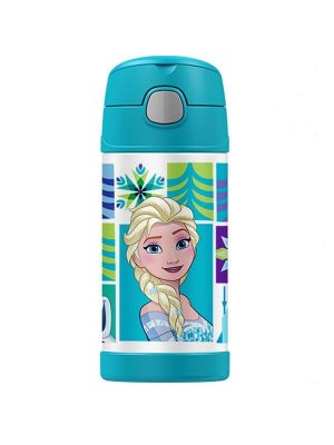 Thermos FUNtainer 355ml Stainless Steel Vacuum Insulated Drink Bottle Disney Frozen