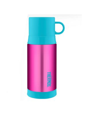 Thermos® FUNtainer® Stainless Steel Vacuum Insulated Warm Drink Bottle 355ml Pink