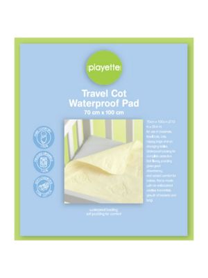 Playette Travel Cot Waterproof Pad White