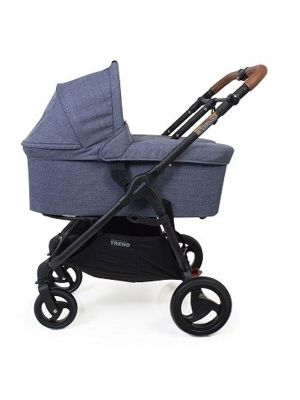 Valco Baby Snap Trend Duo Bassinet Denim + Bassinet Adaptors
