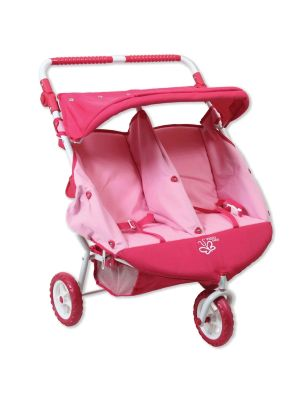 Valco Baby Mini Twin Marathon Doll Stroller Butterfly Pink