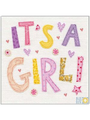 Waterlyn It's a Girl Vintage Greeting Card