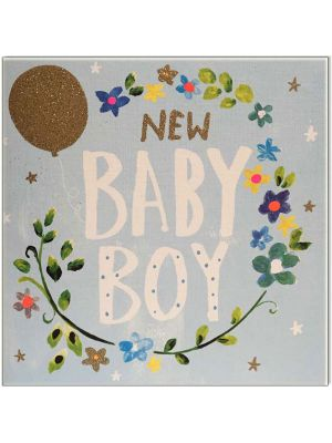 Waterlyn Paper Salad Baby Boy Greeting Card