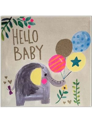 Waterlyn Paper Salad Hello Baby Greeting Card