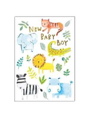 Waterlyn Paper Salad New Baby Boy Greeting Card PSL_LP1901
