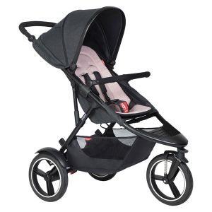 Phil&Teds Dash V6 Black with Blush Cushy Ride Liner - Online Only!