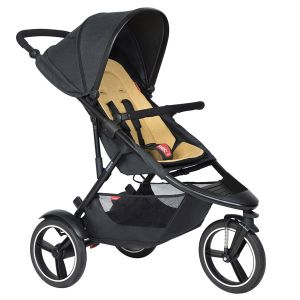 Phil&Teds Dash V6 Black with Butterscotch Cushy Ride Liner - Online Only!