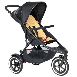 Phil&Teds Sport V6 Black with Butterscotch Cushy Ride Liner - Online Only!