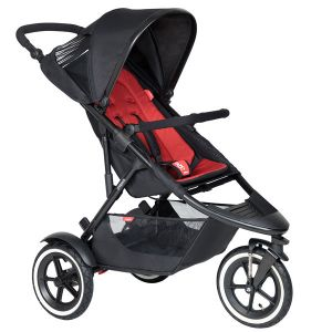 Phil&Teds Sport V6 Black with Chilli Cushy Ride Liner - Online Only!