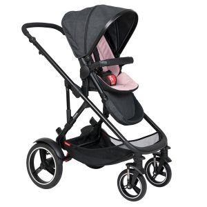 Phil&Teds Voyager V6 Black with Blush Cushy Ride Liner - Online Only!