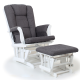 Valco Bliss Glider & Ottoman Antique Grey
